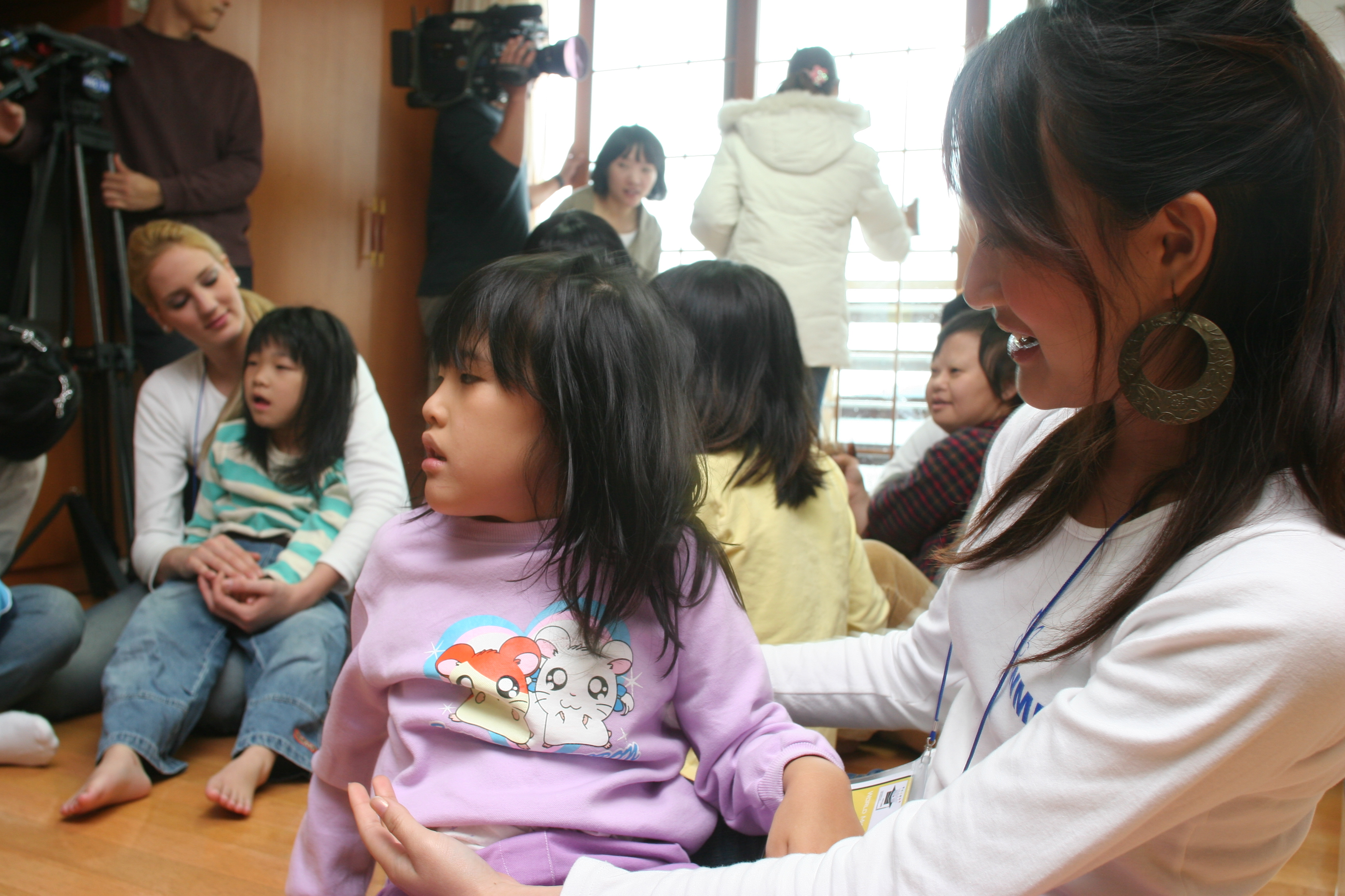 Volunteer activities for disabled people in Jeju Island